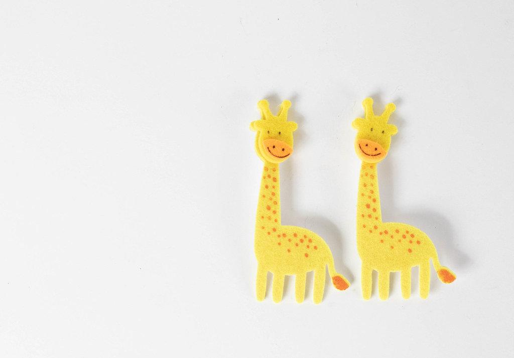 Flache Stoffgirafen Kinderspielzeug