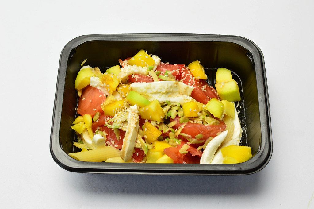 Salad with Mozzarella, Avocado and Mango