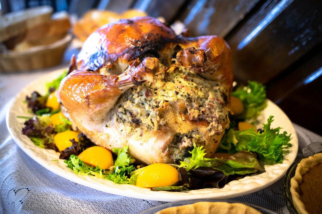 Garnished thanksgiving turkey