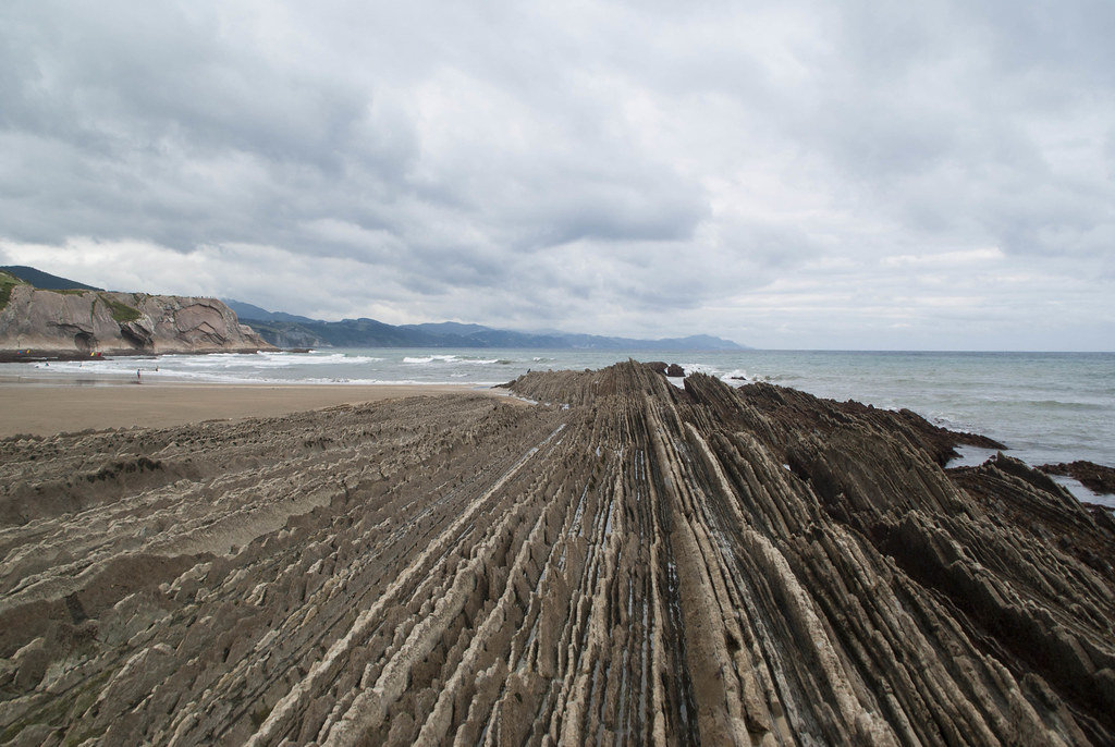 Earth layers in flysh, zumaia, Basque country Spain