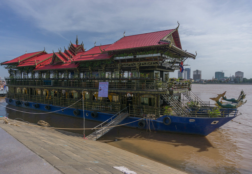 Temple Boat on Mekong River