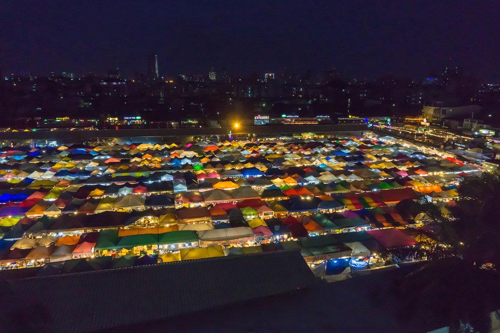 Ratchada Rod Fai Night Market in Bangkok, Thailand