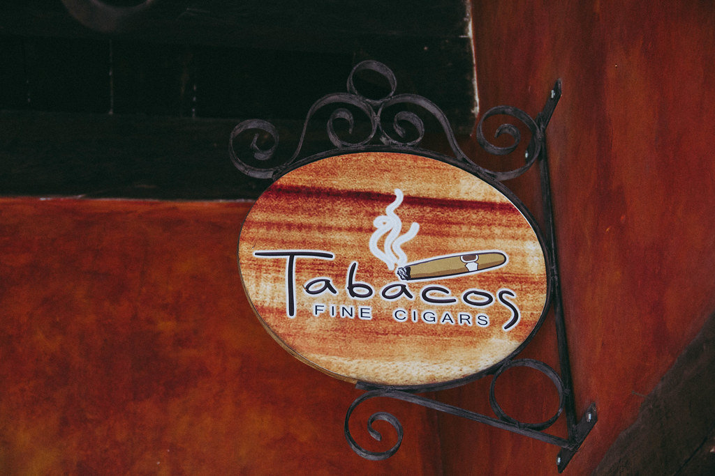 A Sign of a Cigar Selling Store