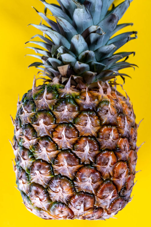 the fruit of the pineapple