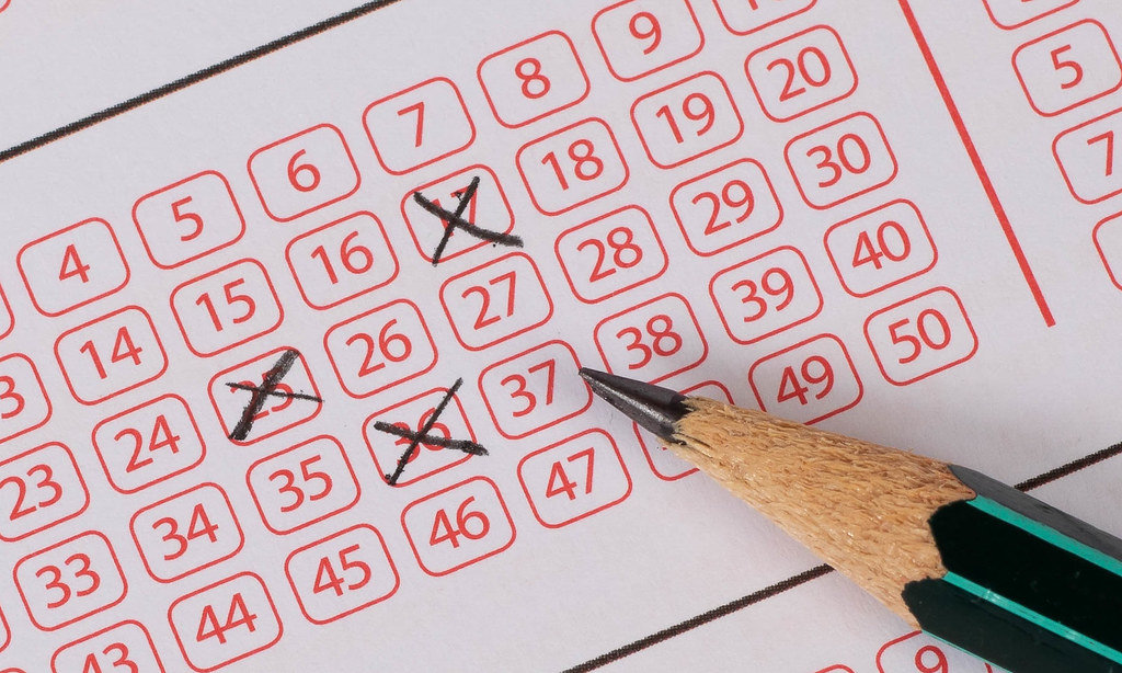 Marking numbers on lottery ticket