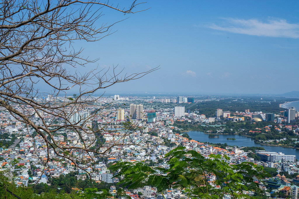 View of Vung Tau City in Vietnam