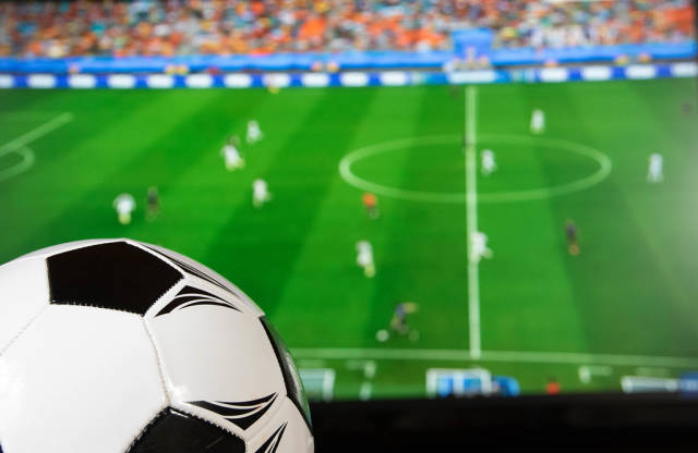 Soccer ball and TV