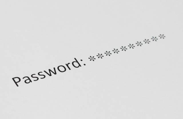 Bei Eingabe mit Sternchen unsichtbar gemachtes Passwort