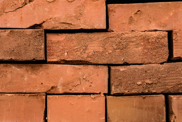 Close Up on a Stack Of Bricks