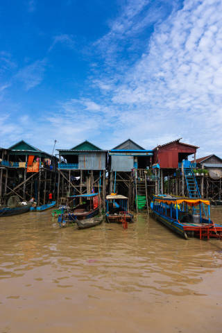 Schwimmendes Dorf Kompong Phluk in Siem Reap, Kambodscha