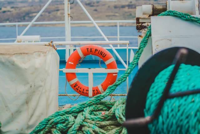 Life Ring Valleta On Ship