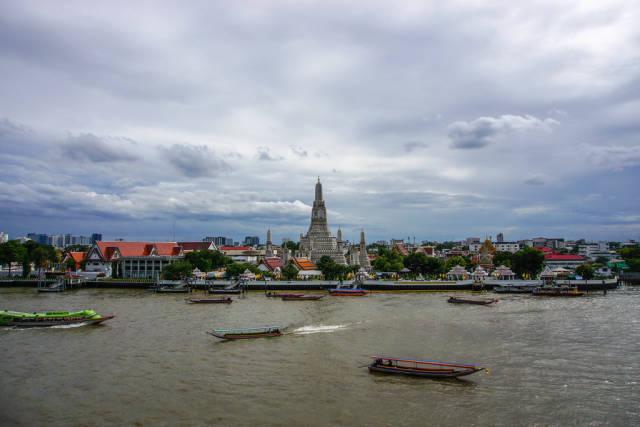 River View of Wat Arun in Bangkok