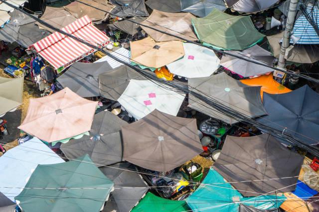 Birds View of Chinatown Market in Saigon
