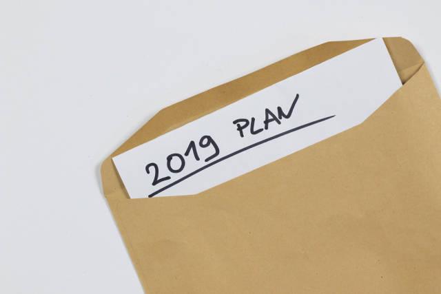 Envelope with 2019 plan