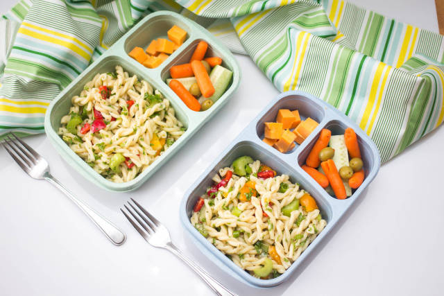 Bentox Lunch Box with Pasta Salad Top View