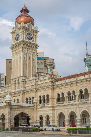 Front of Sultan Abdul Samad Building in Kuala Lumpur