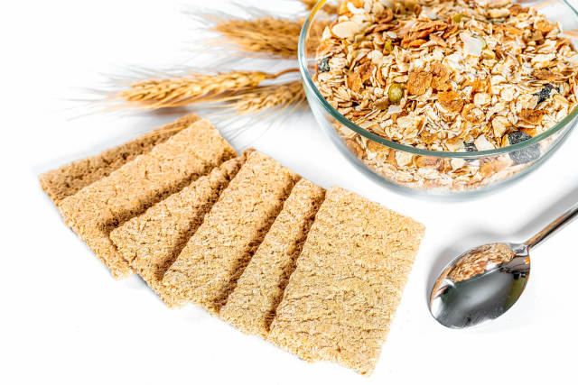 Healthy food - diet cereals and breads