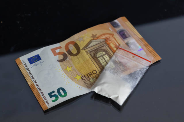 Drug bag with money