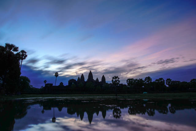 Angkor Wat Sunrise with Reflection in Siem Reap