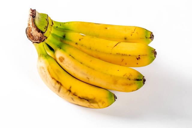 Dwarf small ripe bananas