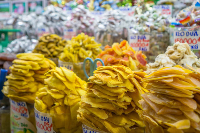 Dried Fruits and Candy at Ben Thanh Market in Saigon