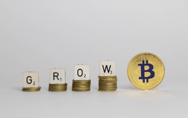 Grow text with Bitcoin