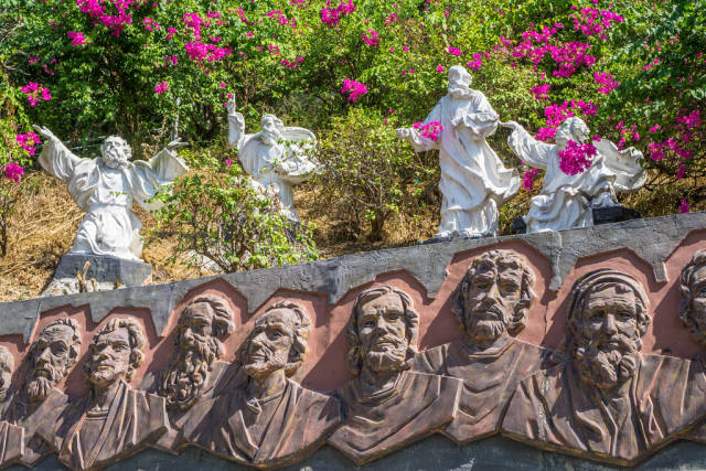 Religious Engraving and Angel Statues in Vietnam