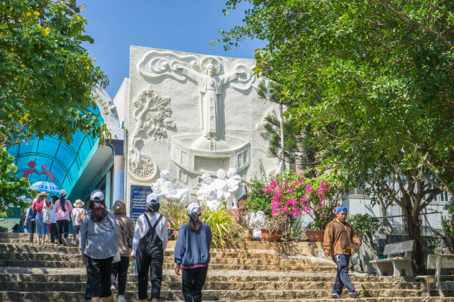 Stairs leading to the Jesus Christ Statue in Vung Tau