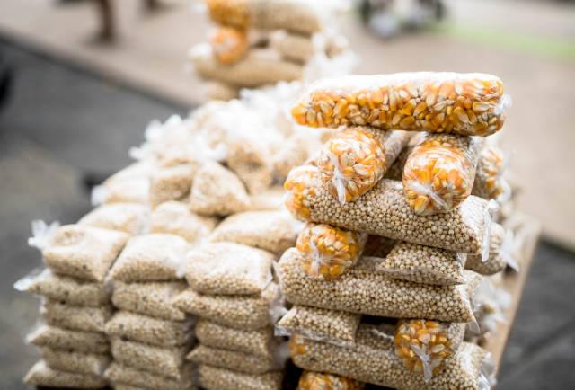 Small corn bags for street dove feeding