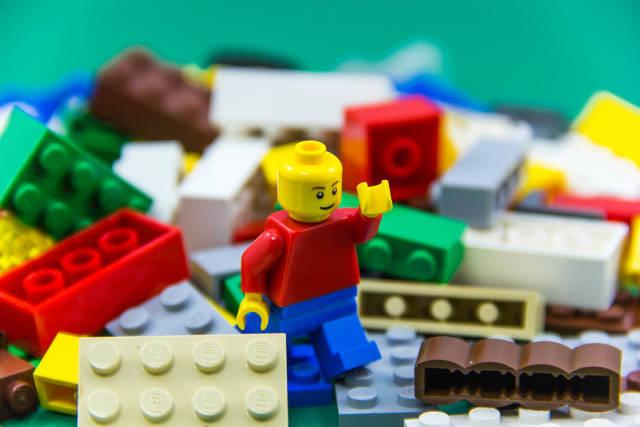 Macro of a Lego Man