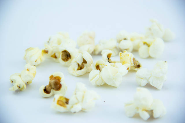 Popcorn in a White Background
