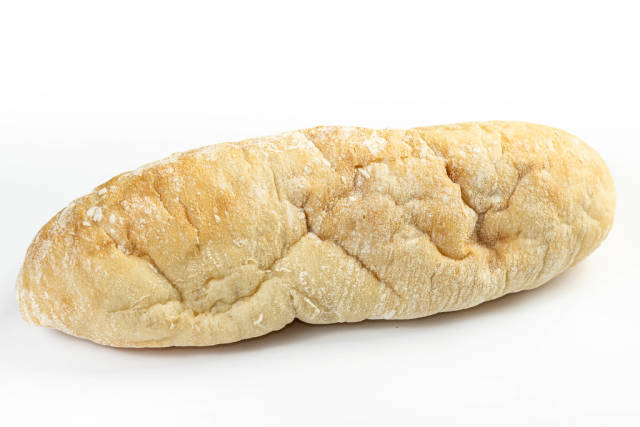 Whole homemade White Bread above white background