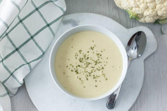 Cream of Cauliflower Top View