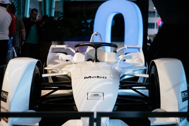 Vorderansicht von Porsches zukünftigem Formel-E-Auto
