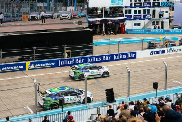 Starting grid of Jaguar i-Pace eTrophy
