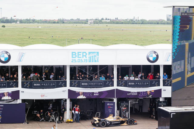 Berlin 2019 E-Prix: DS TECHEETAH car retires to garage