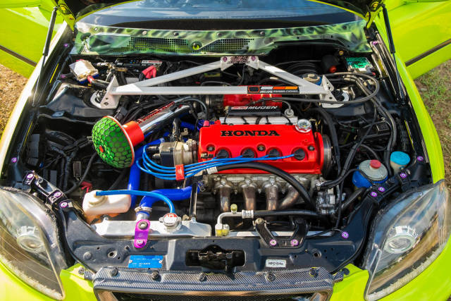 Upgraded engine of a honda civic