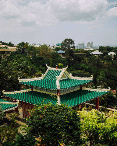 Roof of a Chinese shrine