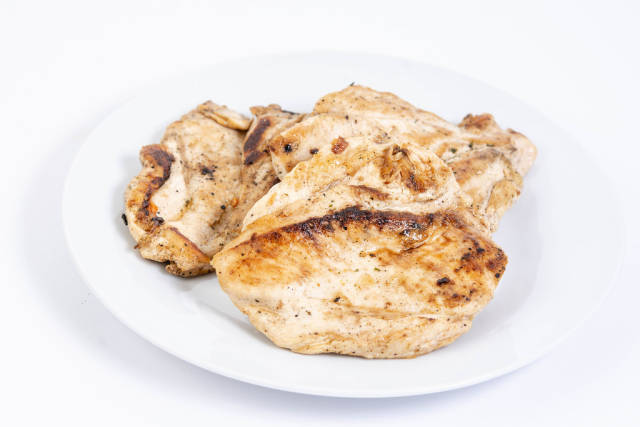 Chicken Breasts fried on the barbecue