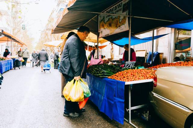 Markt in Griechenland