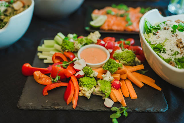 Plate Of Carrot, Paprica And Vegetable Mix