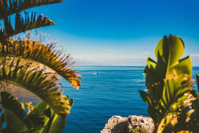 Landscape Of Isola Bella And Mediterranean Sea