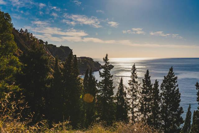 Wild Landscape Of Taormina Coastline