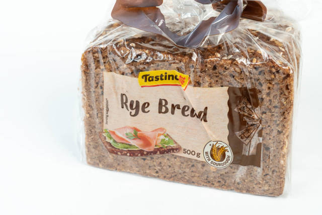 Rye Bread market package isolated above white background