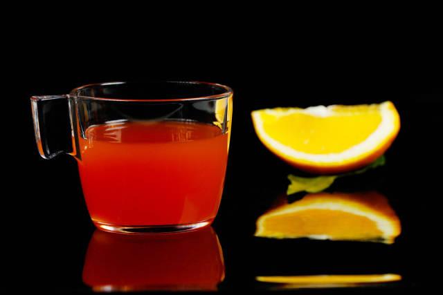 Orange winter punch, German drink