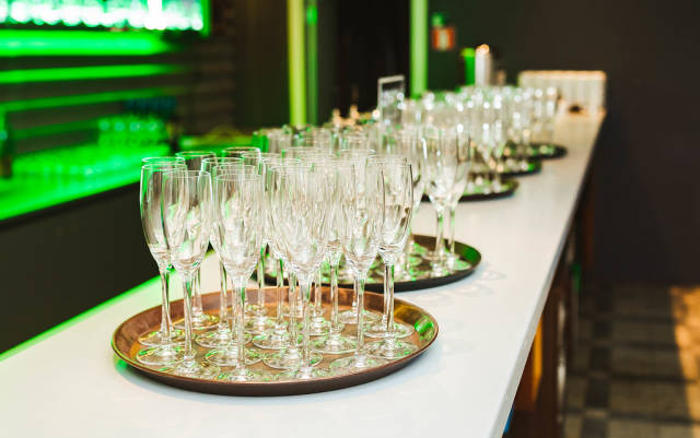 Champagne Glasses On The Table