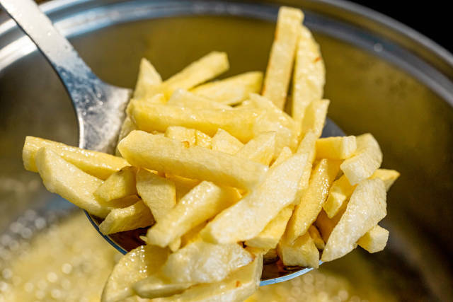 Fresh French fries, close-up
