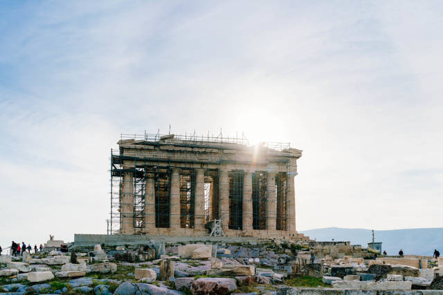 Restoration of the old tample in Acropolis