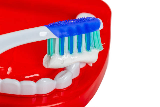 Daily dental care concept. Teeth cleaning