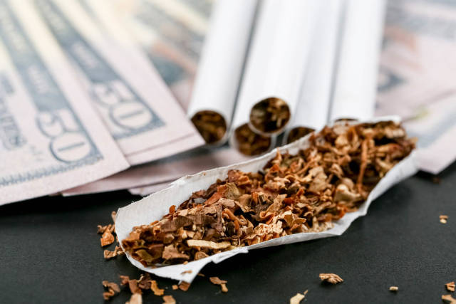 Bad habits and money costs concept